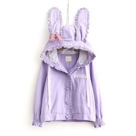 Purple jacket with rabbit ears