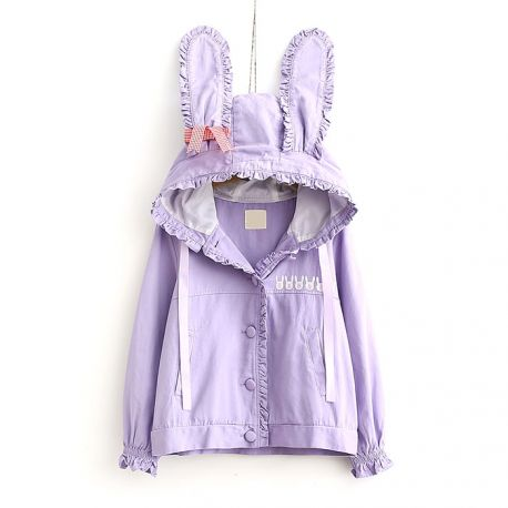 Purple jacket with rabbit ears