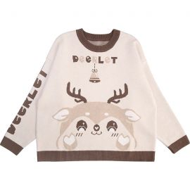 Beige deerlet sweater