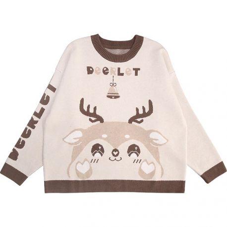 Beige deerlet sweater