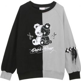 Dark Bear sweater with braided sleeve