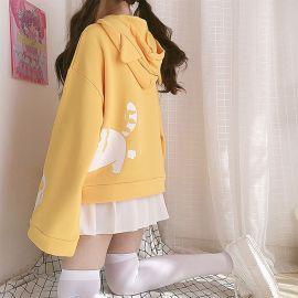 Yellow Orange Tabby cat hoodie