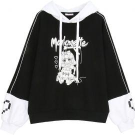 Black & White anime style hoodie