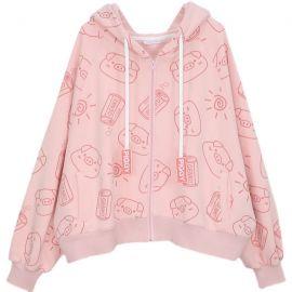 Cute pink Piggy hoodie