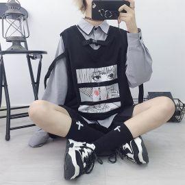 Black anime style vest