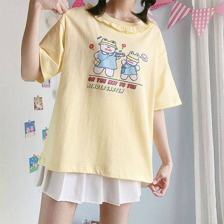 Yellow kindergarten bear T-shirt