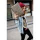 Women's rivet handbag
