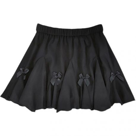 Black skirt with bows