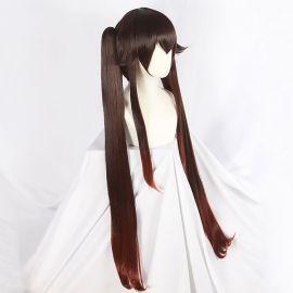 Genshin Impact - Hu Tao long red brown wig