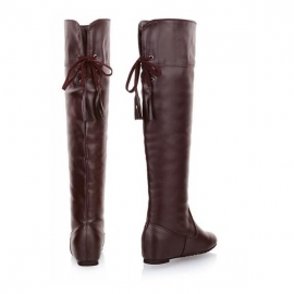 Attack on Titan calf length leather boots