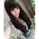 Cosplay long dark brown wig