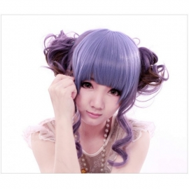 Cosplay long light purple wig