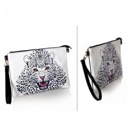 Naisten hieno leopardikuvioinen käsilaukku