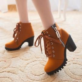 Women's mocca high heel shoes