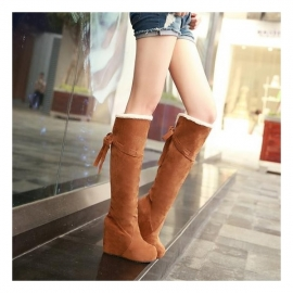 Women's wedge heel mocca boots