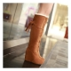 Women's wedge heel mocca boots