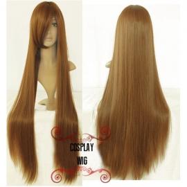 Cosplay pitkä vaaleanruskea suora peruukki