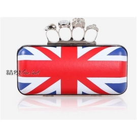 British style clutch bag