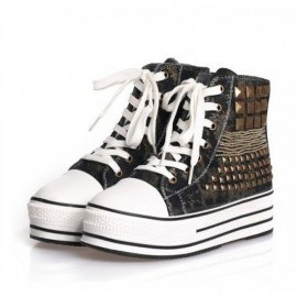 Fashion thick-based rivet sneakers