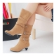 Women's mocca high heel boots