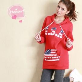 Women's long U.S.A hoodie