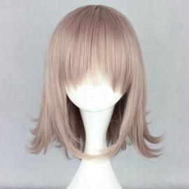 Dangan Ronpa - Chiaki Nanami keskipitkä vaaleanpunainen peruukki