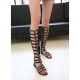 Women's fashion leather strappy sandals