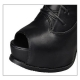 Women's peep-toe ankle boots