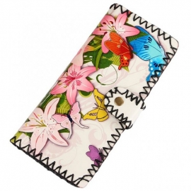 Colorful floral wallet