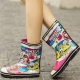 Cartoon style rubber boots