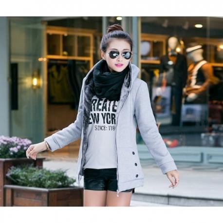 Women's lined warm hoodie
