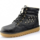 Women's lined winter boots with rivets