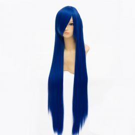 Cosplay long dark blue wig