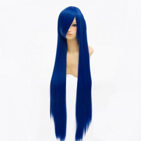 Cosplay pitkä tummansininen peruukki