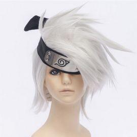 Naruto - Kakashi Hatake kort vit peruk
