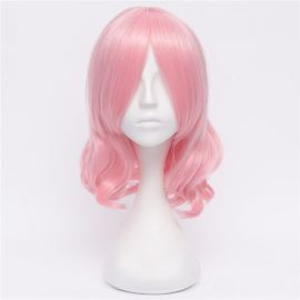 Touhou Project - Yuyuko Saigyouji keskipitkä vaaleanpunainen peruukki