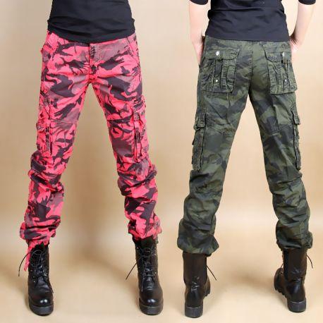 Stylish unisex camo cargo pants