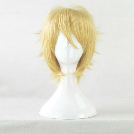Cosplay kort blond peruk