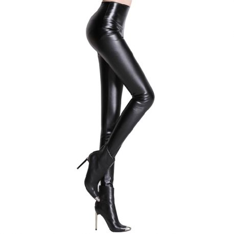 Stylish women's leather leggings