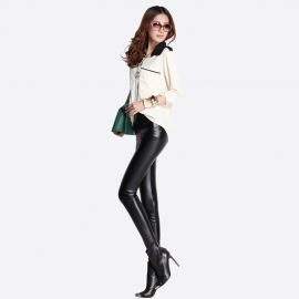 Stylish women's leather leggings