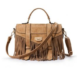Elegant women's bag with tassels