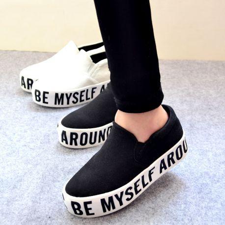 Muodikkaat paksupohjaiset loaferit