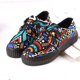 Colorful creeper shoes