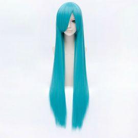 Cosplay pitkä turkoosi suora peruukki