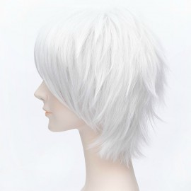 Cosplay short white wig