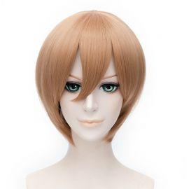 Cosplay lyhyt vaaleanruskea peruukki