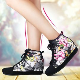 Colorful women's floral sneakers
