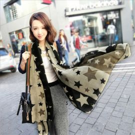 Women's star pattern scarf