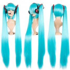 Vocaloid - Miku Hatsune long purple wig with ponytails