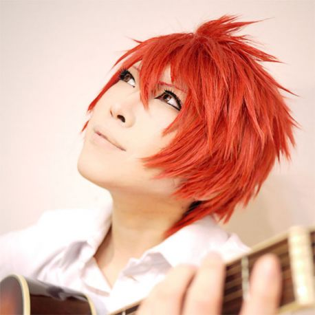 Cosplay short orange wig